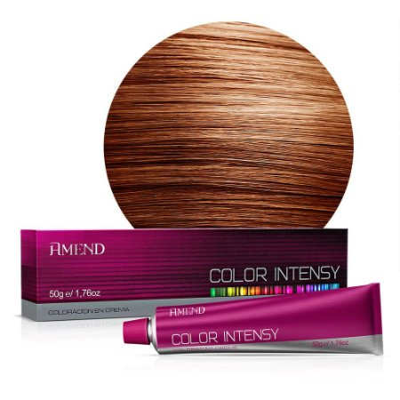Coloração 8.4 Louro Claro Acobreado Color Intensy 50g Amend