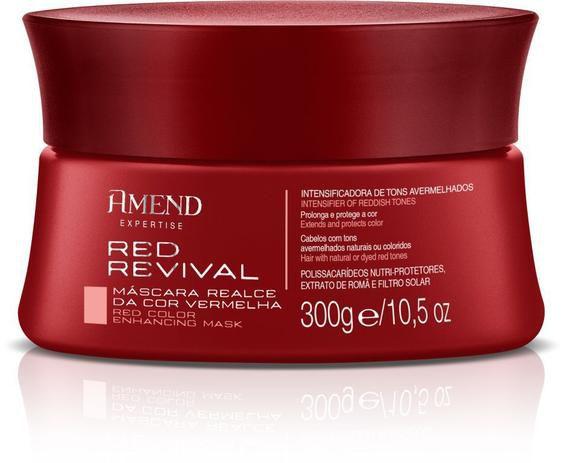Máscara Realce da Cor Vermelha Red Revival 300g Amend