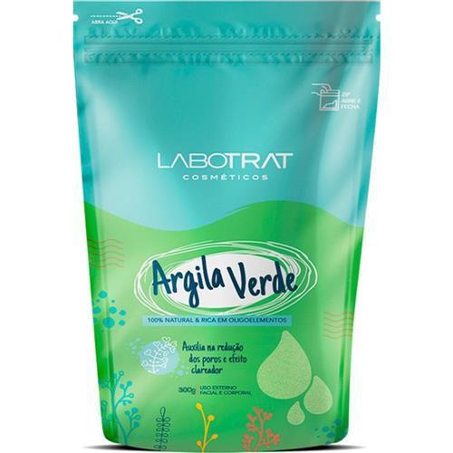 Argila Verde Rosto e Corpo 100% Natural 300g Labotrat