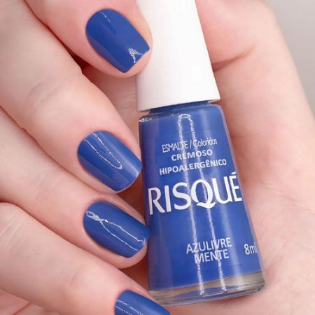 Esmalte Cremoso Risque Hipoalergênico Azulivre Mente 8ml