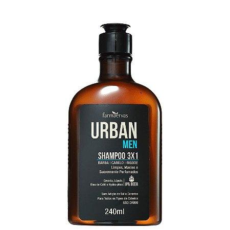 Shampoo Urban Men 3X1 240ml Farmaervas