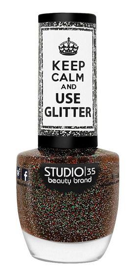 Esmalte Studio 35 Keep Calm And Use Glitter Fascinação Glitter 9ml