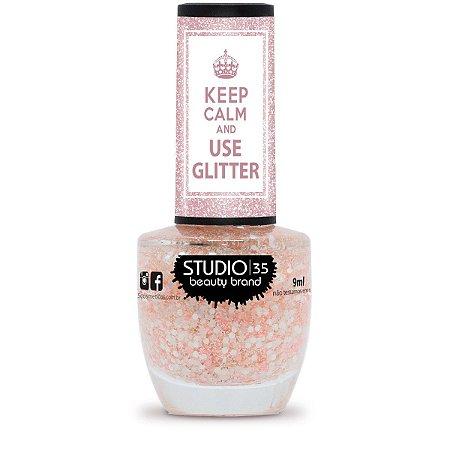 Esmalte Studio 35 Keep Calm And Use Glitter Flocos de Neve 9ml