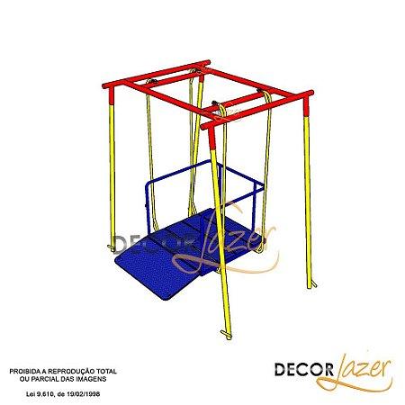 Playground Adaptado Balanço Simples para Cadeirante