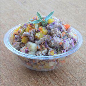 Comida natural para cães - 5 pacotes 500g sabor frango