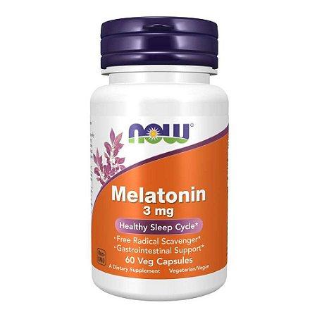 Melatonina 3mg (60 Cápsulas) - Now Foods