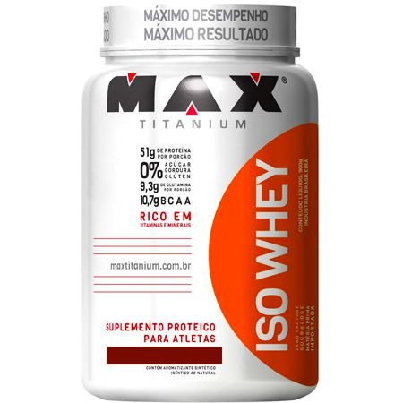 Whey Protein Isolado Iso Whey (900g) - Max Titanium
