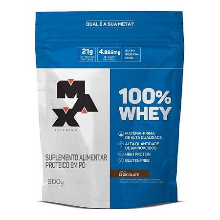 100% Whey Concentrado (900g) Refil - Max Titanium