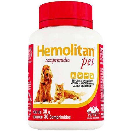 Suplemento Vitamínico Hemolitan Pet Comprimidos