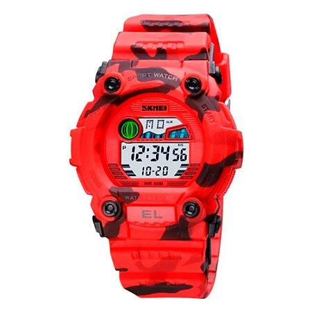 Relógio Infantil Menino Skmei Digital 1635 - Vermelho