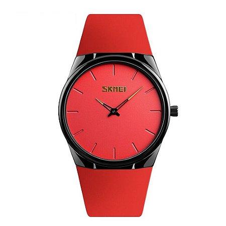 Relógio Feminino Skmei Analógico 1601S - Vermelho e Preto
