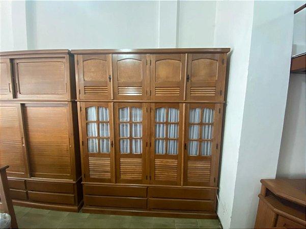 Armário Duplex com Portas de Vidro