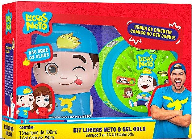 HAMPOO LUCCAS NETO 3X1 260ML PARA TODOS OS TIPOS DE CABELOS GRÁTIS GEL COLA