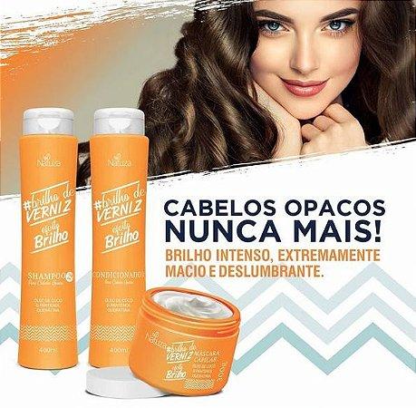 Kit Capilar Natuza - Brilho De Verniz 3 Produtos
