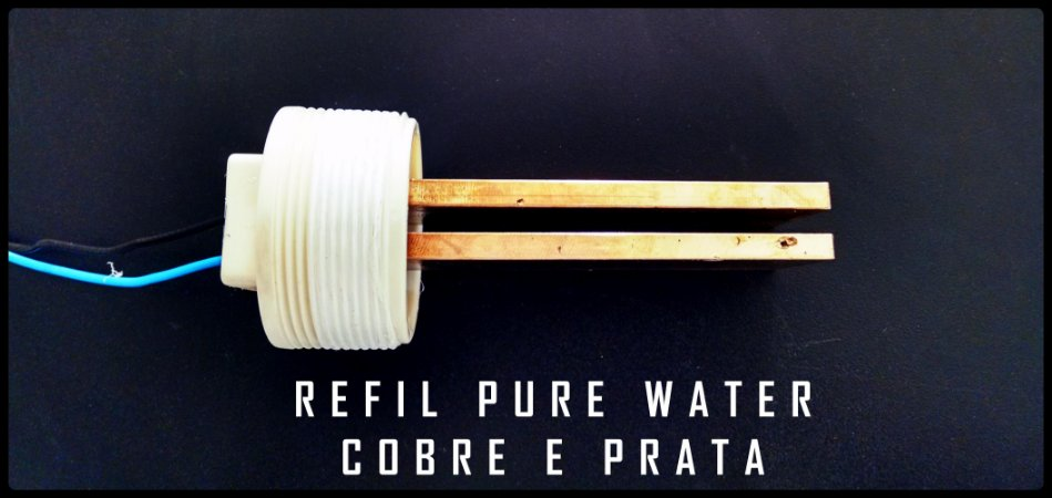 Refil Eletrodo Ionizador Pure Water PWZ 7AG para piscinas até 7 mil litros