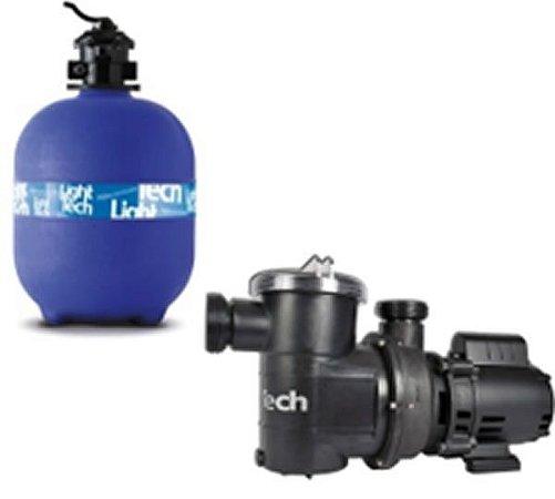 Bomba 3/4 CV 110/220V+ Filtro Filtro De Areia 100 KG LTSW