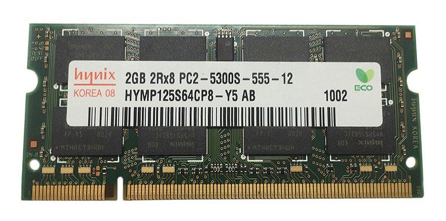 Memória Ram Notebook Ddr2 Pc2-5300s Hymp125s64cp8-y5 (13860)