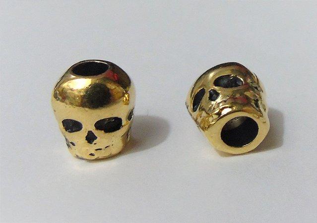Entremeio Caveira Metal Dourado