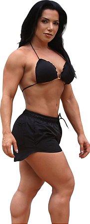 Shorts On The Beach 2 em 1 Feminino com Porta Celular a Prova D'água - Preto