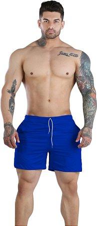 Shorts Fitness 2 Em 1 - Dry Fit E Térmico De Compressão - Esportivo Para Corrida E Treino  - Azul Royal