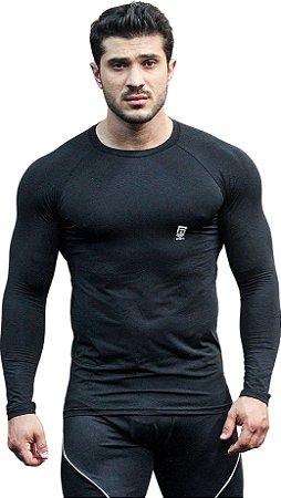 Camisa Térmica com Proteção UV50+ Preta