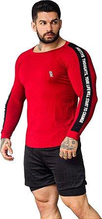 T-shirt SlimFit Essencial Manga Longa Vermelha