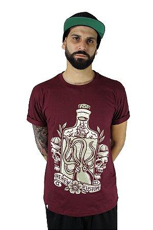 Camiseta New Custom Octopus in Bottle
