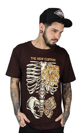 Camiseta  New Custom Peony Marrom