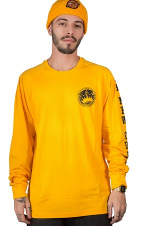 Camiseta Long Sleeve New Custom Yellow Stone