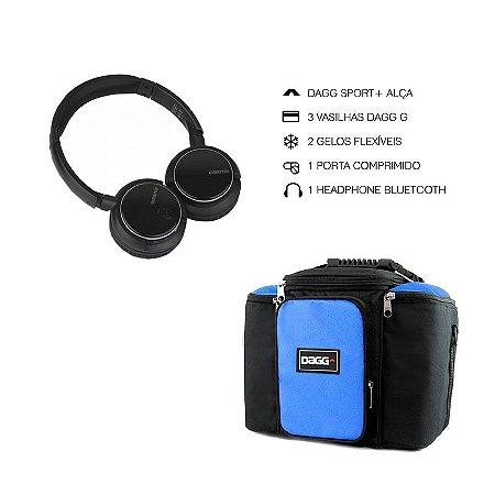 6da81f4af33 Kit Bolsa Térmica Fitness Azul G + Headphone Bluetooth Msx - Dagg ...
