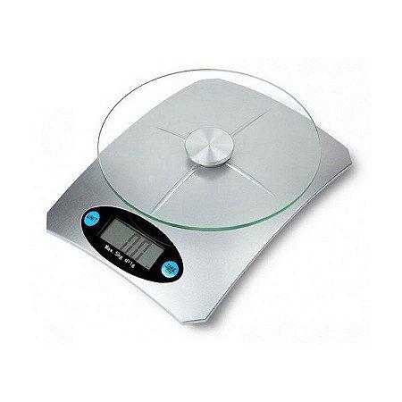 Balança Digital de Cozinha Alta Precisão 5 Kgs Prata