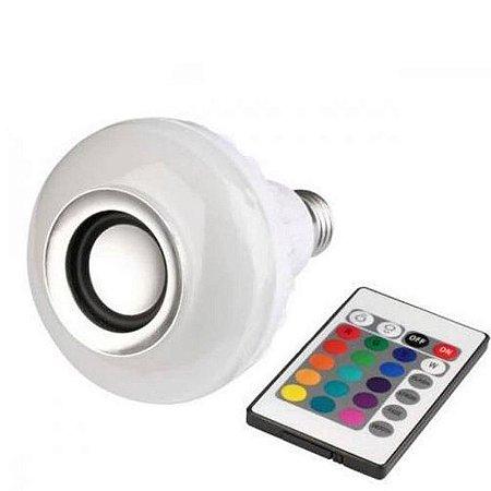 Caixa de Som Lâmpada Bluetooth Multi Led Wj-L2 Branca
