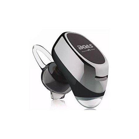 Micro Fone de Ouvido Boas Xtrad Wireless via Bluetooth Sem Fio - Prata
