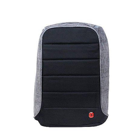 Mochila Anti Furto para Notebook  YS28055  Impermeável Com USB - Cinza