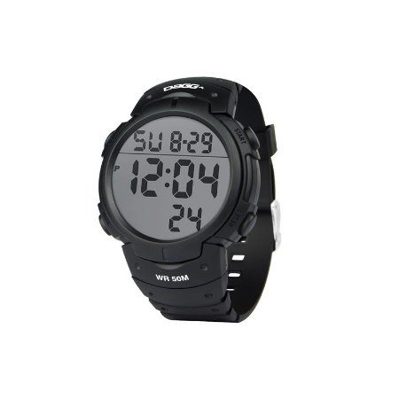 Relógio Dagg Digital Watch Gear Running Fit Black