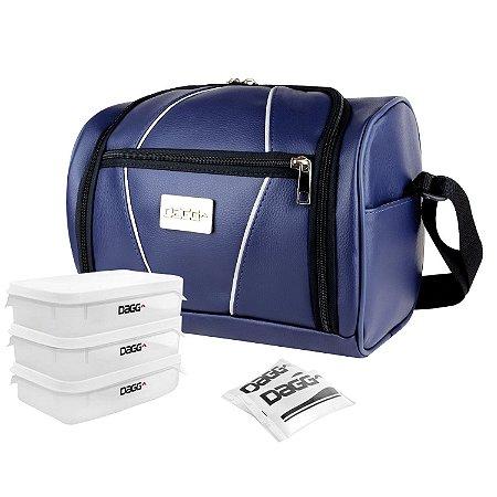 84285e254c3 Bolsa Térmica Fitness Gym Couro Azul - Dagg - Bolsas Térmicas ...