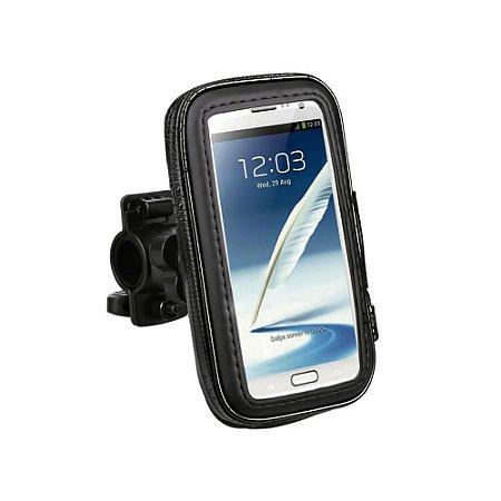 Suporte de Celular Impermeável Para Bicicleta e Moto - Preto