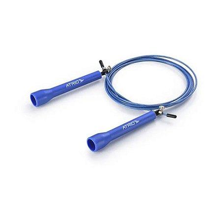 Corda de Pular Speed Cross Fit Material PVC e Aço Azul Atrio - ES230