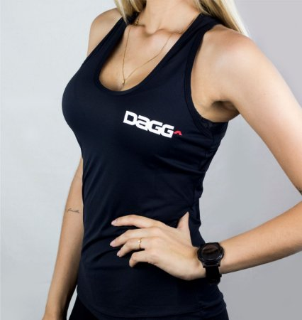 Regata Feminina Workout Black Dagg - Preto