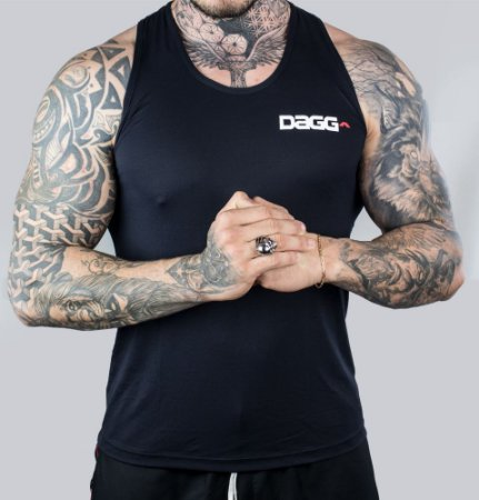 Regata Masculina Workout Black Dagg