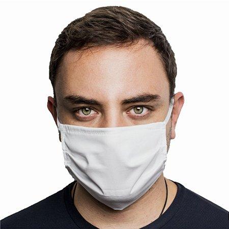 Máscara Protetora Dupla Face Reutilizável Lavável com clipes nasal Branca
