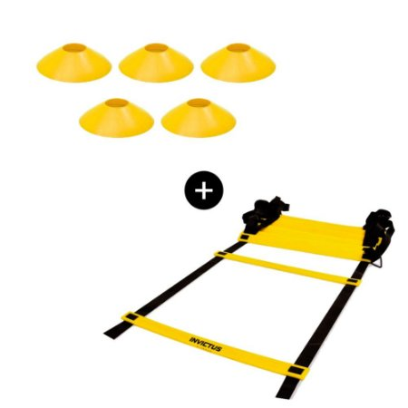 Kit Escada de agilidade + 5 Chapéu Chinês demarcatório cores