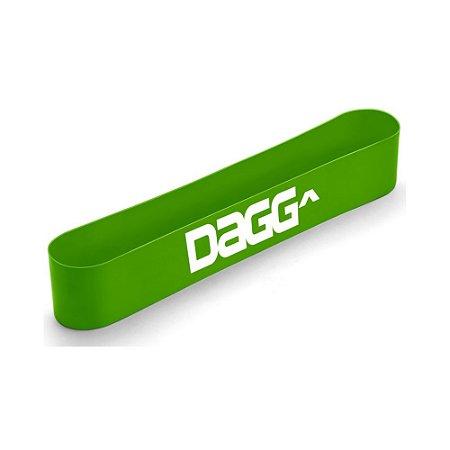Mini Band Verde Faixa Elástica Dagg Profissional Resistente Intensidade Light