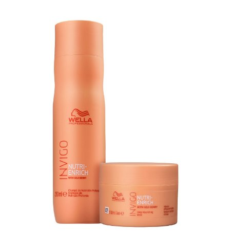 Kit Wella Invigo Nutri Enrich Shampoo 250ml + Máscara 150ml