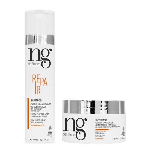 Ng De France Kit Shampoo Repair 300ml + Máscara Repair 250ml