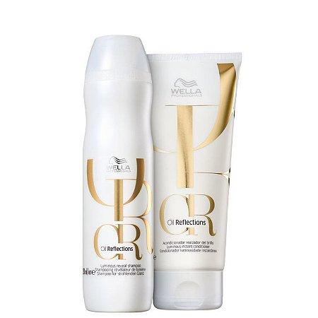 Kit Wella Oil Reflections Shampoo 250ml + Condicionador 200ml