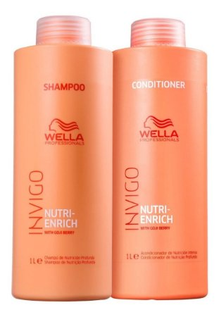 Kit Wella Invigo Nutri Enrich Shampoo 1000ml + Cond. 1000ml