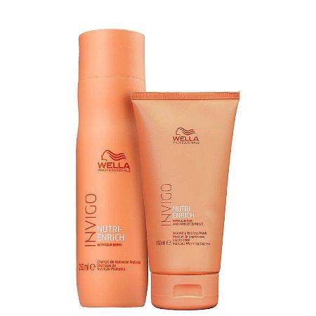 Kit Wella Invigo Nutri Enrich Shampoo 250ml + Condic. 200ml