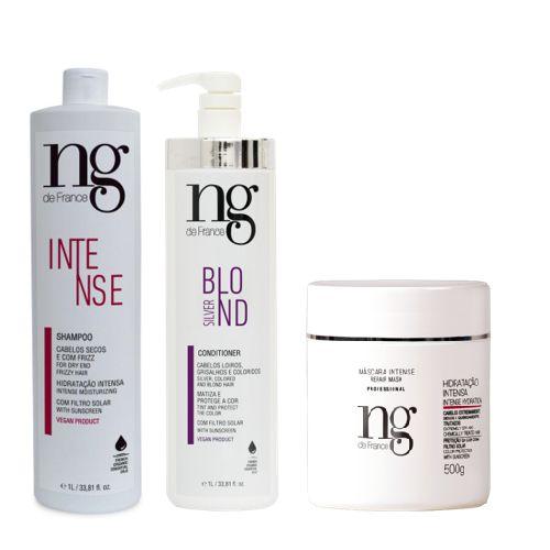 Ng De France Shampoo Intense + Cond Silver + Máscara Intense