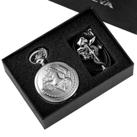 Relógio Full Metal Alchemist com Caixa